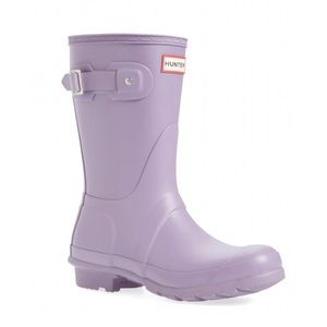 Hunter Lilac Thundercloud Short Boots Size 8